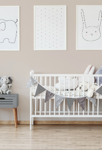 Hop to it: Rabbit's Foot is the paint shade set to lead the way in Gender neutral nurseries