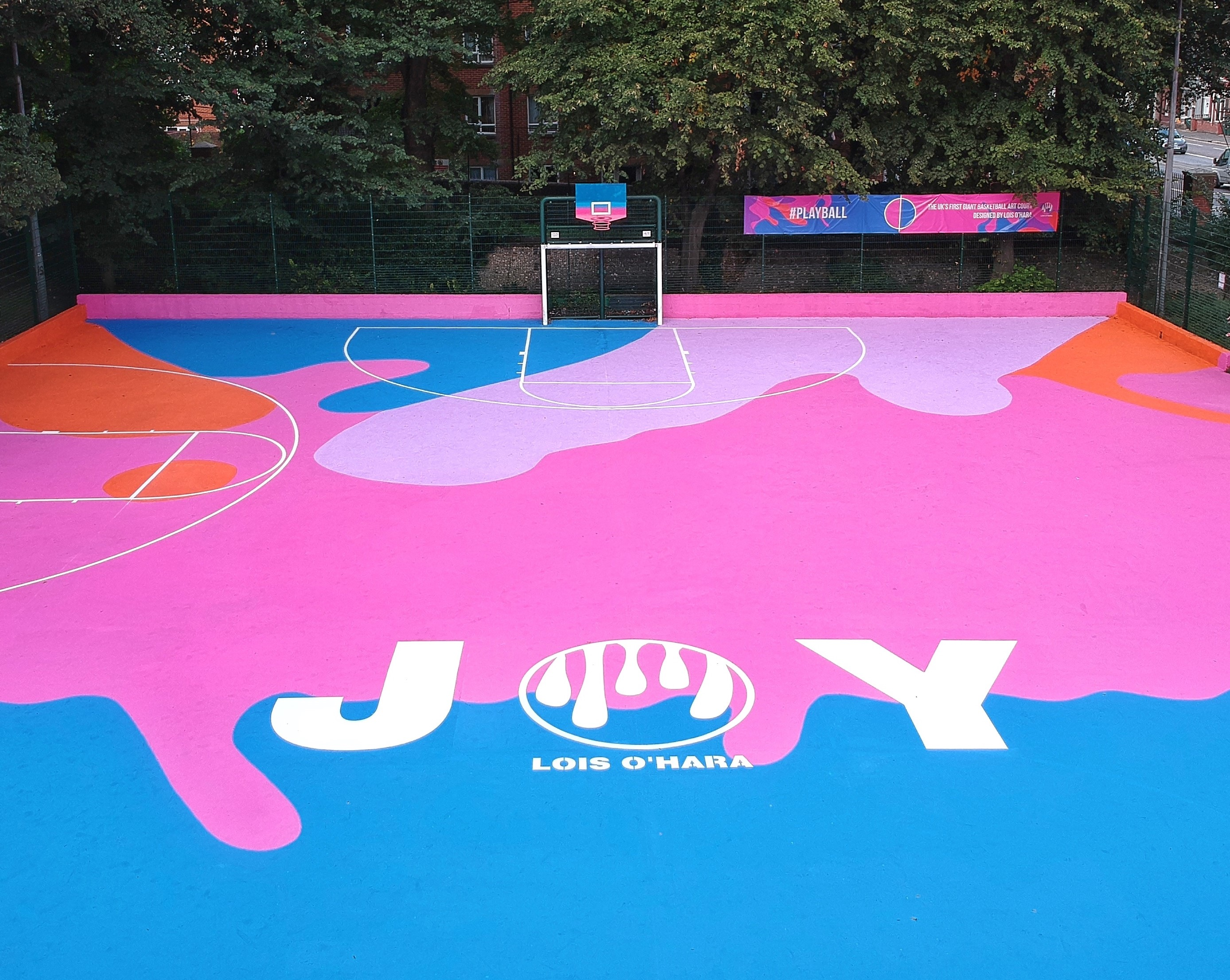 colourful basketball court in Brighton